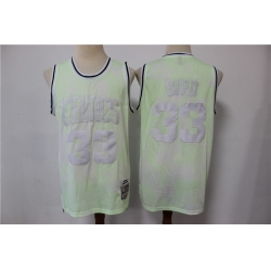 Men Boston Celtics Larry Bird 33 Light Green Hardwood Classics Jersey