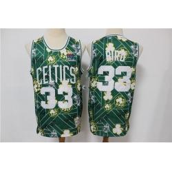 Men Boston Celtics Larry Bird 33 hwc jersey tear up pack Swingman Jersey