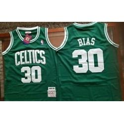 Men Boston Celtis Len Bias Green Hardwood Classic Mitchell Ness Jersey