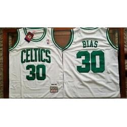 Men Boston Celtis Len Bias White Hardwood Classic Mitchell Ness Jersey