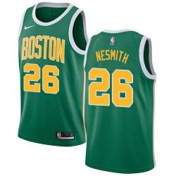 Men Nike Boston Celtics 26 Aaron Nesmith Green NBA Swingman Earned Edition Jersey