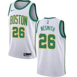 Men Nike Boston Celtics 26 Aaron Nesmith White NBA Swingman City Edition 2018 19 Jersey