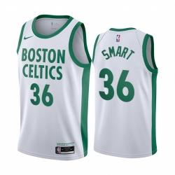 Men Nike Boston Celtics 36 White NBA Swingman 2020 21 City Edition Jersey