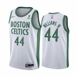 Men Nike Boston Celtics 44 Robert Williams III White NBA Swingman 2020 21 City Edition Jersey