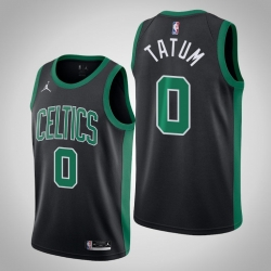 Men celtics jayson tatum jordan brand 2020 21 black swingman statement jersey