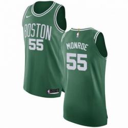 Mens Nike Boston Celtics 55 Greg Monroe Authentic GreenWhite No Road NBA Jersey Icon Edition