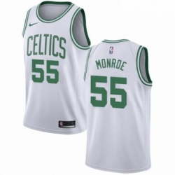 Mens Nike Boston Celtics 55 Greg Monroe Authentic White NBA Jersey Association Edition