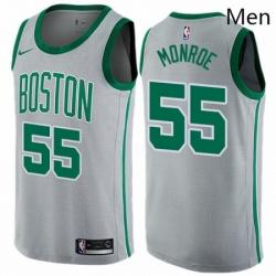 Mens Nike Boston Celtics 55 Greg Monroe Swingman Gray NBA Jersey City Edition