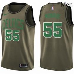 Mens Nike Boston Celtics 55 Greg Monroe Swingman Green Salute to Service NBA Jersey