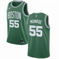 Mens Nike Boston Celtics 55 Greg Monroe Swingman GreenWhite No Road NBA Jersey Icon Edition