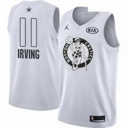 Mens Nike Jordan Boston Celtics 11 Kyrie Irving Swingman White 2018 All Star Game NBA Jersey