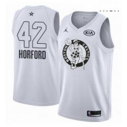 Mens Nike Jordan Boston Celtics 42 Al Horford Swingman White 2018 All Star Game NBA Jersey