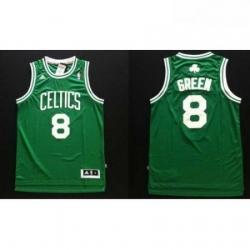 Revolution 30 Celtics 8 Jeff Green Green Stitched NBA Jers