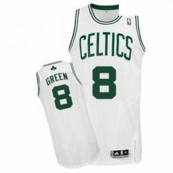 Revolution 30 Celtics 8 Jeff Green White Stitched NBA Jerseyey