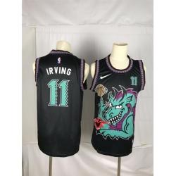 Men Brooklyn Nets 11 Irving Black dragon Nike 2021 Nike NBA Jersey