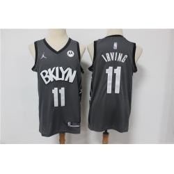 Men Brooklyn Nets 11 Kyrie Irving Dark Gray 2021 Swingman Jersey