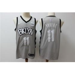 Men Brooklyn Nets 11 Kyrie Irving Gray Nike Swingman Jersey