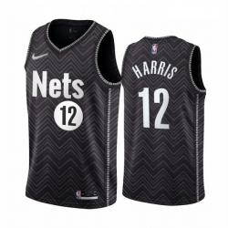 Men Brooklyn Nets 12 Joe Harris Black NBA Swingman 2020 21 Earned Edition Jersey