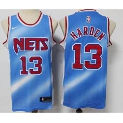 Men Brooklyn Nets 13 James Harden  City Edition Blue Jersey