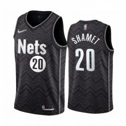 Men Brooklyn Nets 20 Landry Shamet Black NBA Swingman 2020 21 Earned Edition Jersey