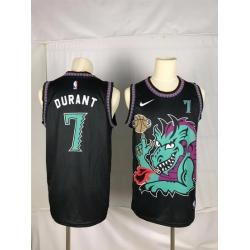 Men Brooklyn Nets 7 Durant Black dragon Nike 2021 Nike NBA Jersey