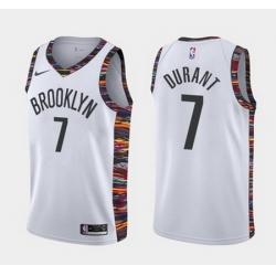 Men Brooklyn Nets 7 Kevin Durant  Swingman Black Basketball Jersey 2018 19 City Edition