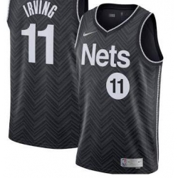 Men Brooklyn Nets Kevin Irving 2021 New Black Jersey