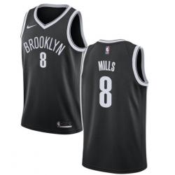Men Brooklyn Nets Patty Mills Black Nike Home Jersey