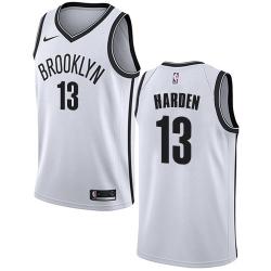 Men Nike Brooklyn Nets 13 James Harden White NBA Swingman Association Edition Jersey