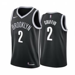 Men Nike Brooklyn Nets 2 Blake Griffin Black NBA Swingman Icon Edition Jersey
