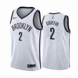 Men Nike Brooklyn Nets 2 Blake Griffin White NBA Swingman Association Edition Jersey