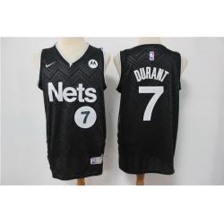 Men Nike Brooklyn Nets Kevin Durant 7 Black NBA New grey playoff bonus jersey