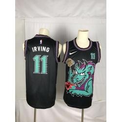 Nets 11 Kyrie Irving Black Nike Swingman Jersey