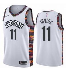 Nets 11 Kyrie Irving White 2019 20 City Edition Nike Swingman Jersey