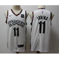 Nets 11 Kyrie Irving White 2019-20 City Edition Nike Swingman Jersey