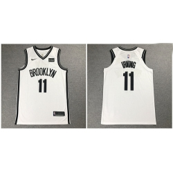 Nets 11 Kyrie Irving White Nike Authentic Jersey