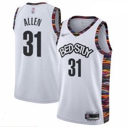 Nets 31 Jarrett Allen White Basketball Swingman City Edition 2019 20 Jersey