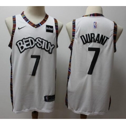 Nets 7 Kevin Durant White 2019 20 City Edition Nike Swingman Jersey