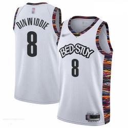 Nets 8 Spencer Dinwiddie White Basketball Swingman City Edition 2019 20 Jersey