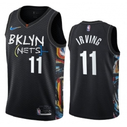 Youth Brooklyn Nets 11 Kevin Irving 2020 New City Edition NBA Jersey