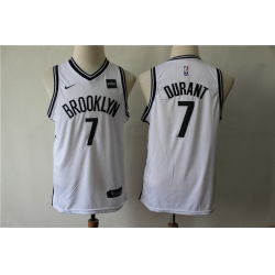 Youth Nets 7 Kevin Durant White Youth Nike Swingman Jersey