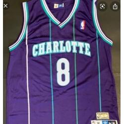 Charlotte 8 Kobe Bryant Purple Throwback Jersey