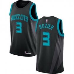 Hornets  3 Terry Rozier Black Basketball Jordan Swingman City Edition 2018 19 Jersey
