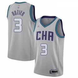 Hornets 3 Terry Rozier Gray Basketball Jordan Swingman City Edition 2019 20 Jersey