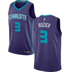Hornets  3 Terry Rozier Purple Basketball Jordan Swingman Statement Edition Jersey
