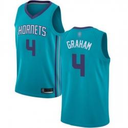 Hornets  4 Devonte Graham Teal Basketball Jordan Swingman Icon Edition Jersey