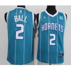 Men Charlotte Hornets 2 LaMelo Ball Blue 2020 21 City Edition Swingman Jersey