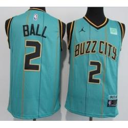 Men Charlotte Hornets 2 LaMelo Ball Teal 2020 21 City Edition Swin