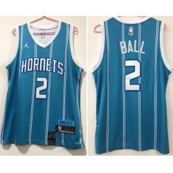 Men Charlotte Hornets 2 LaMelo Ball Teal Icon Edition Swingman jersey