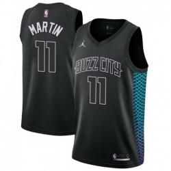 Men Nike Charlotte Hornets 11 Cody Martin Black NBA Jordan Swingman City Edition Jersey